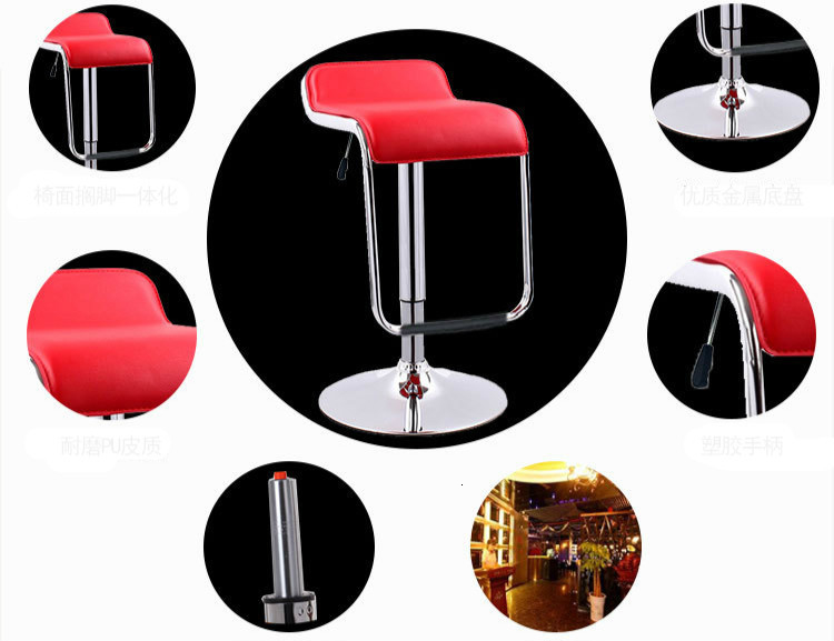 Купить с кэшбэком Simple Design Lifting Swivel Bar Chair Rotating Adjustable Height Pub Bar Stool Chair PU Material Office Chair cadeira