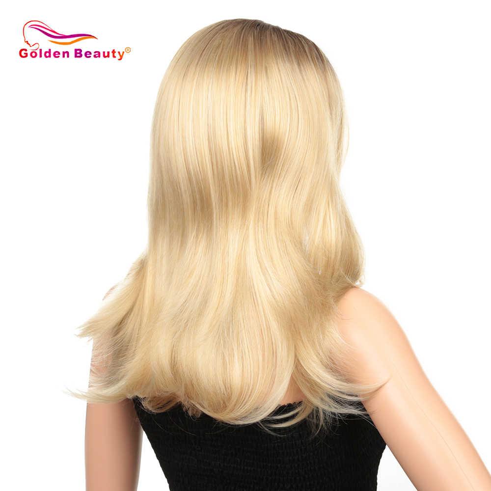 """Золотая красота 20 """"объемная волна синтетический парик фронта шнурка натуральный волос бесклеевая Высокая температура волокна для красоты женщин"""