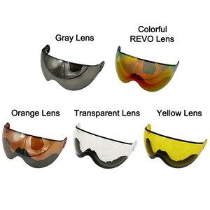 Image 5 - Lua meia coberto certificação ce capacete de esqui integralmente moldado esportes ao ar livre óculos de esqui capacete snowboard