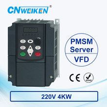 wk600B Vector Control frequency converter 4kw Single to Three-phase 220V Permanent Magnetic Synchronous Motor Drive стоимость
