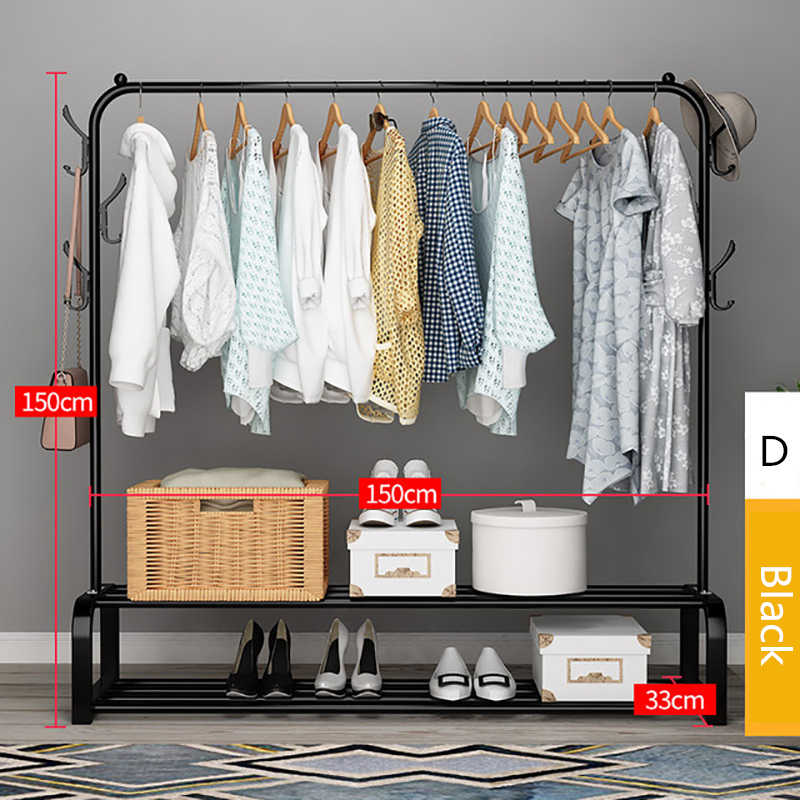 multifunction clothes hanger coat rack floor hanger storage wardrobe clothing drying rack metal iron bedroom storage iron hanger