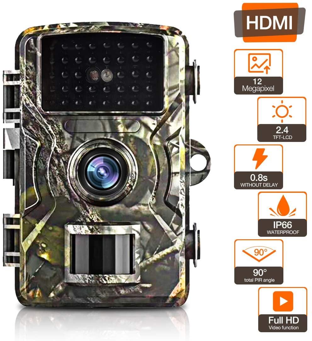 Câmera da trilha com 12mp e 1080p