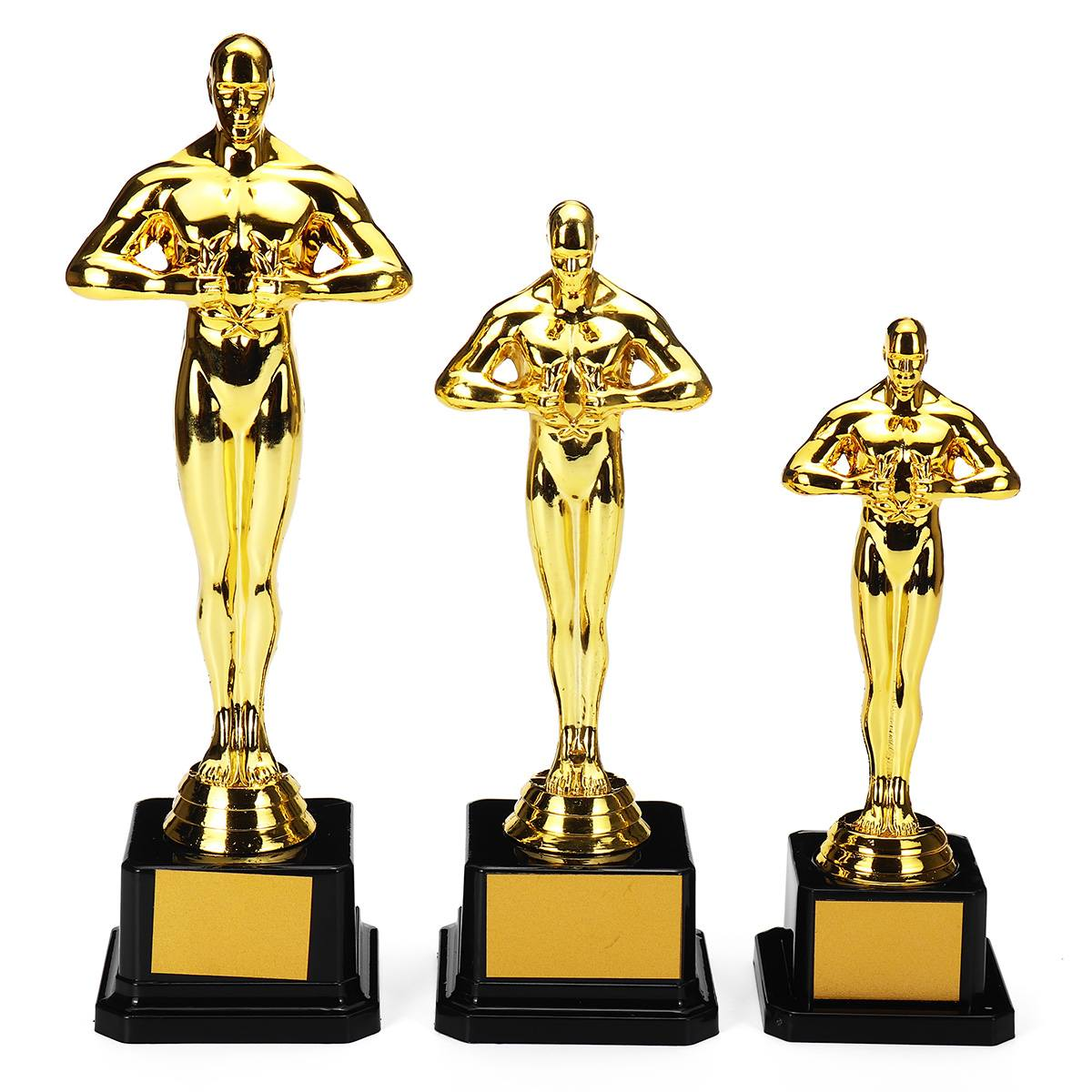 Oscar Trophy Awards Gold-Plated-Replica Team Sport Competition Craft Souvenirs Plastic Party Celebrations Gifts 18cm 21cm 26cm