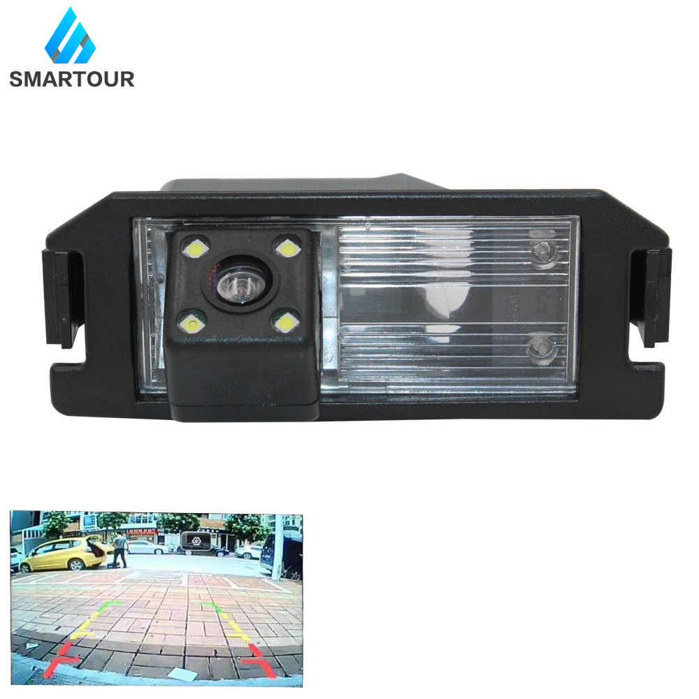 Smartour 現代エラントラ Terracan でツーソンアクセントための車のリアビューカメラ逆転駐車リアビューカメラ CCD バックアップ 8Led I30