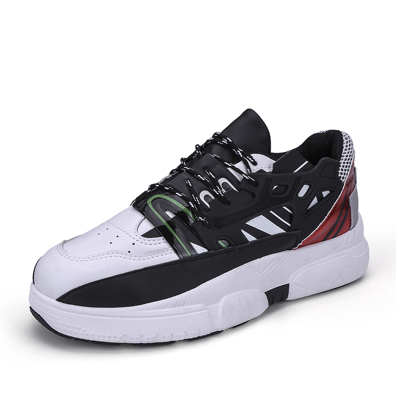 Mens Autumn New Cool Dad Shoes Casual Wild Thick soled Chunky Shoes Design for Adulto Student Tide Korean Version Platform Shoes in Men 39 s Vulcanize Shoes from Shoes