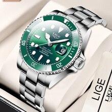 Diver Watch Date-Clock Quartz Sport Waterproof Top-Brand Luxury Fashion LIGE Relogio