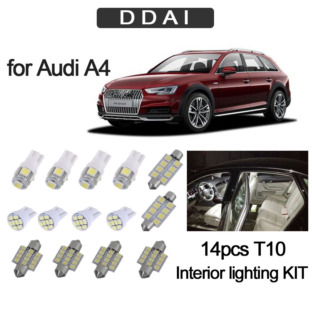 A5 6 SMD Festoon White 36mm Number Plate Light Bulbs Audi A3 A4 A6 Q7 A8 Q3
