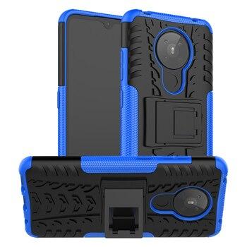Для крышки Nokia 5,3 1,3 чехол Nokia 2,3 2,2 4,2 6,2 6,2 7,2 антидетонационный сверхмощный бронированный стенд силиконовый чехол-бампер для телефона для Nokia 5,...