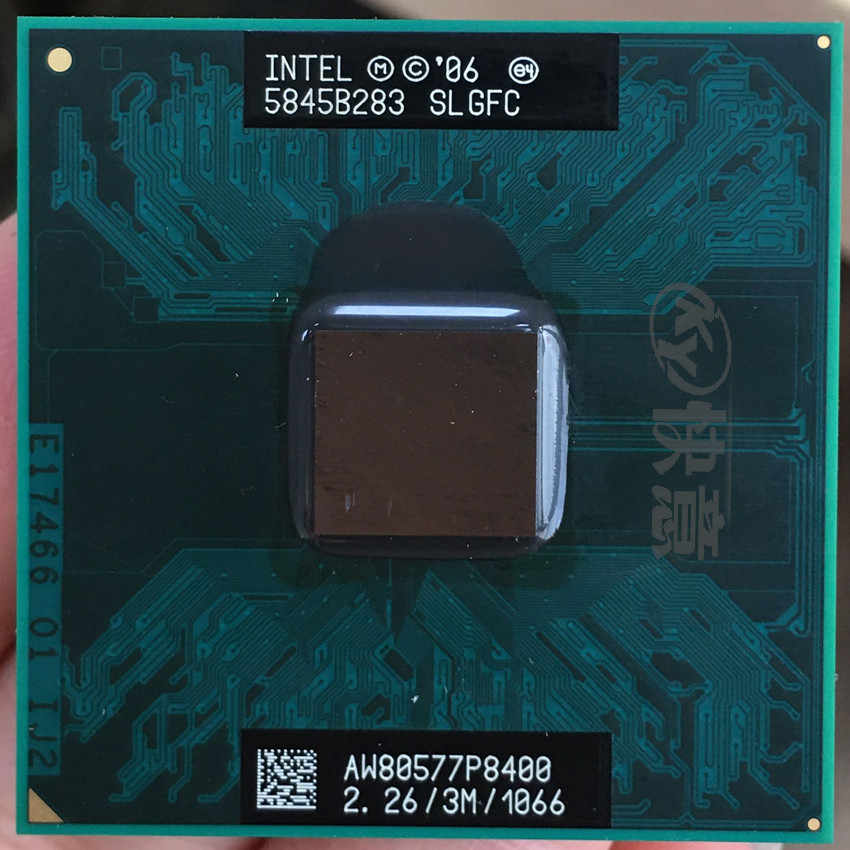 Originale per Processori Intel Core 2 Duo P8400 CPU 2.26G 3M cpu 1066 MHz 25W PGA Del taccuino Del Computer Portatile processore compatibile PM45 GM45 chipset