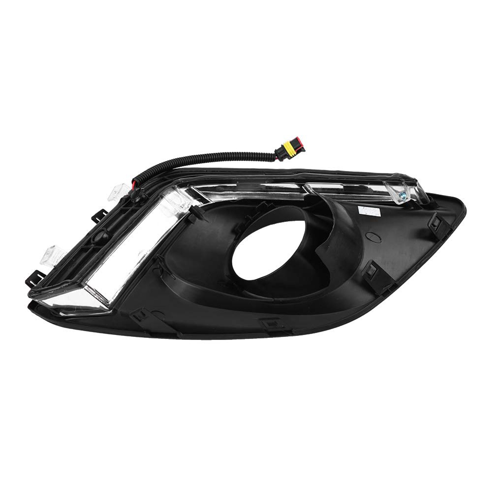 2 шт. Автомобильный свет дневного света для Suzuki Swift 2014 2016 DRL Вождения светодиодный противотуманный фонарь реле дневного света крышка аксессуары - 4