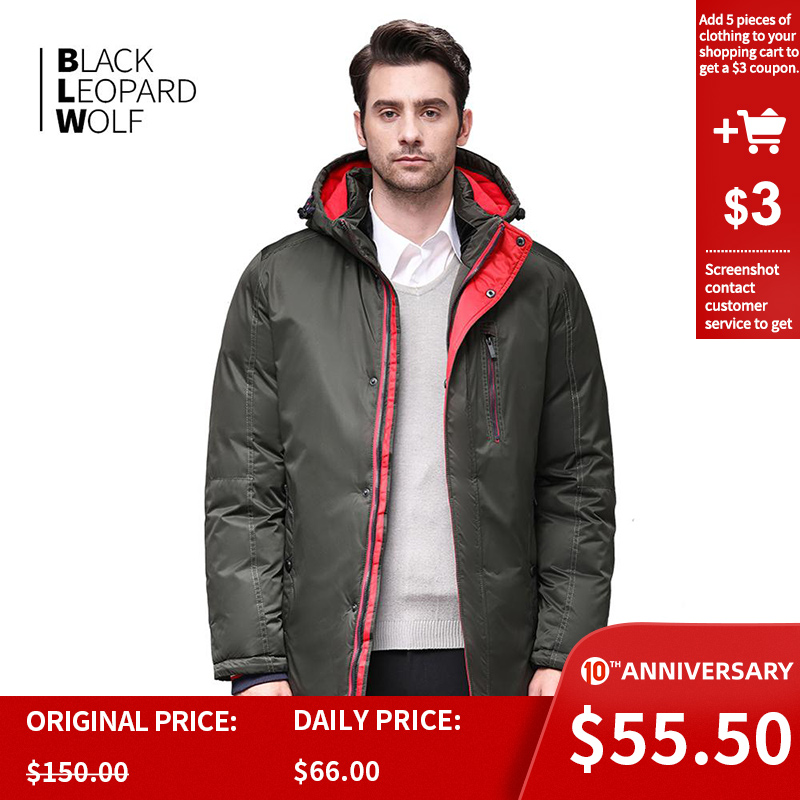 Blackleopardwolf 2019 Hot Sale Winter Windproof Yood Men Jacket Warm Men Parkas High Quality Parka Fashion Casual Coat BL-1109