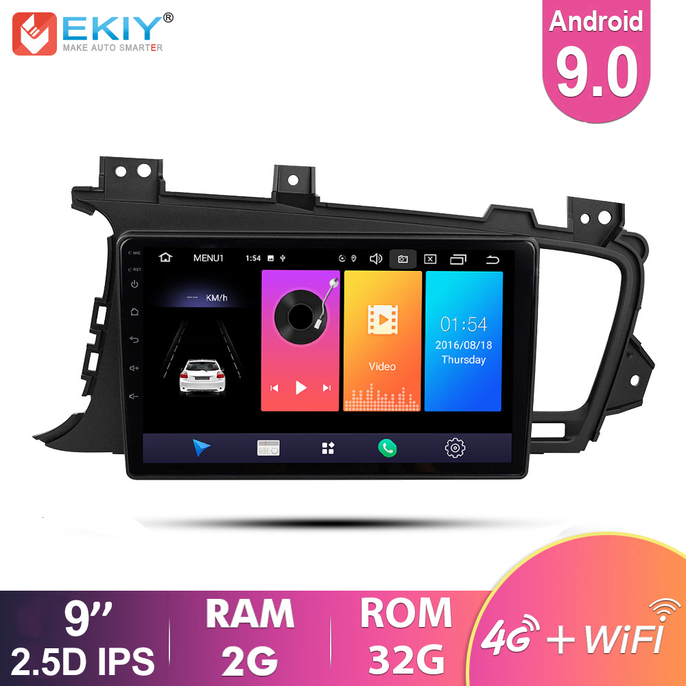 EKIY 9'' IPS Android 9.0 Not 2 Din Car Multimedia Player Auto Radio Stereo Audio For KIA K5 2009-2015 GPS Navigation 4G Modem