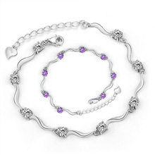 Fashion Bangle Bracelets Jewelry Charm Twist Chain Zircon Crystal Female Costume Jewelery Lovers Gift