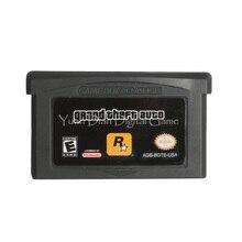 Cartucho de videojuego para Nintendo GBA, tarjeta de consola Grand Theft, versión US en idioma inglés