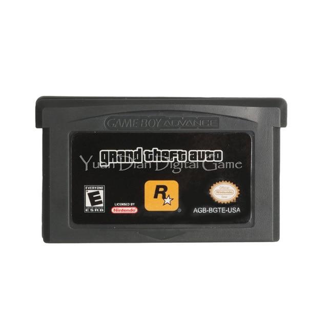 لنينتندو GBA لعبة فيديو خرطوشة بطاقة وحدة التحكم سرقة السيارات اللغة الإنجليزية النسخة الأمريكية