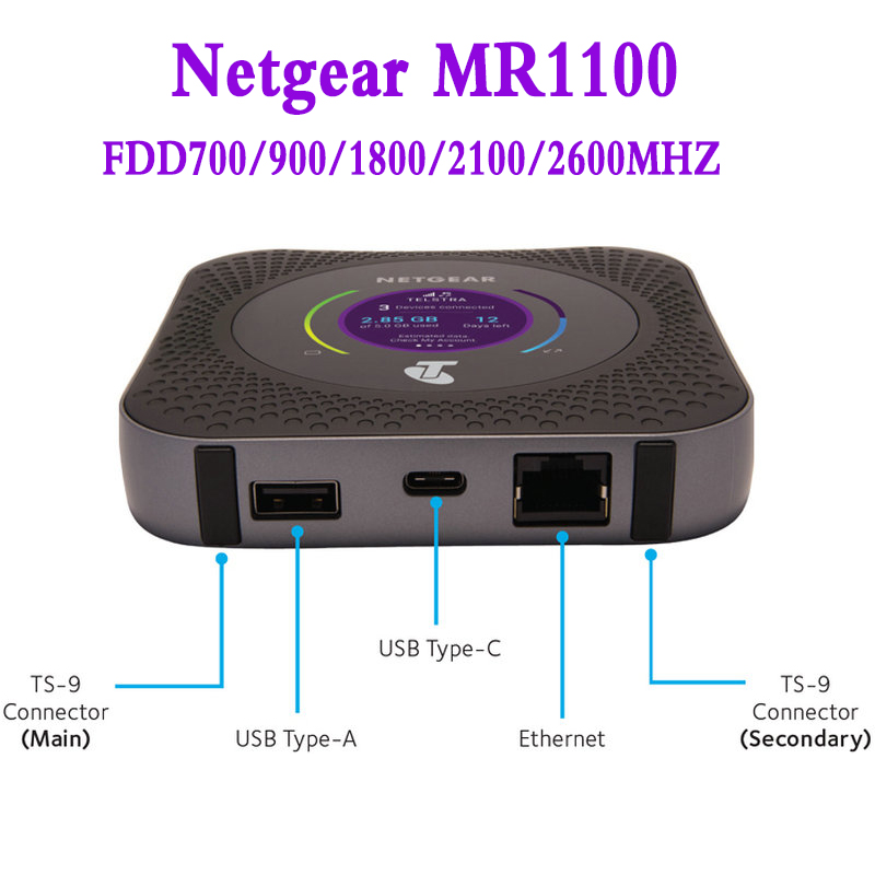 Nighthawk M1 4GX Gigabit LTE Mobile Router Netgear Hotspot Router unlocked wifi Router For LTE ,WIFI and Ethernet Connection image