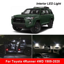 Canbus For Toyota 4Runner 4WD 1989 2020 차량용 LED 실내 돔지도 조명 번호판 램프 키트 자동 조명