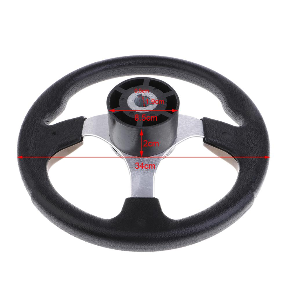 "New ABS Boat Steering Wheel Polished 3 Spoke 3//4/"" with Center Cap for Boat"