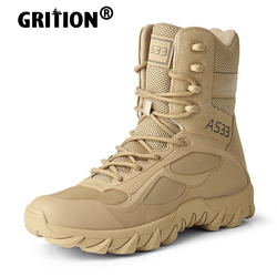 GRITION Mountain Trekking Boots Outdoor Winter Collision Avoidance Keep Warm Ankle Military Sand Hiking Shoes Non Slip 2020 New