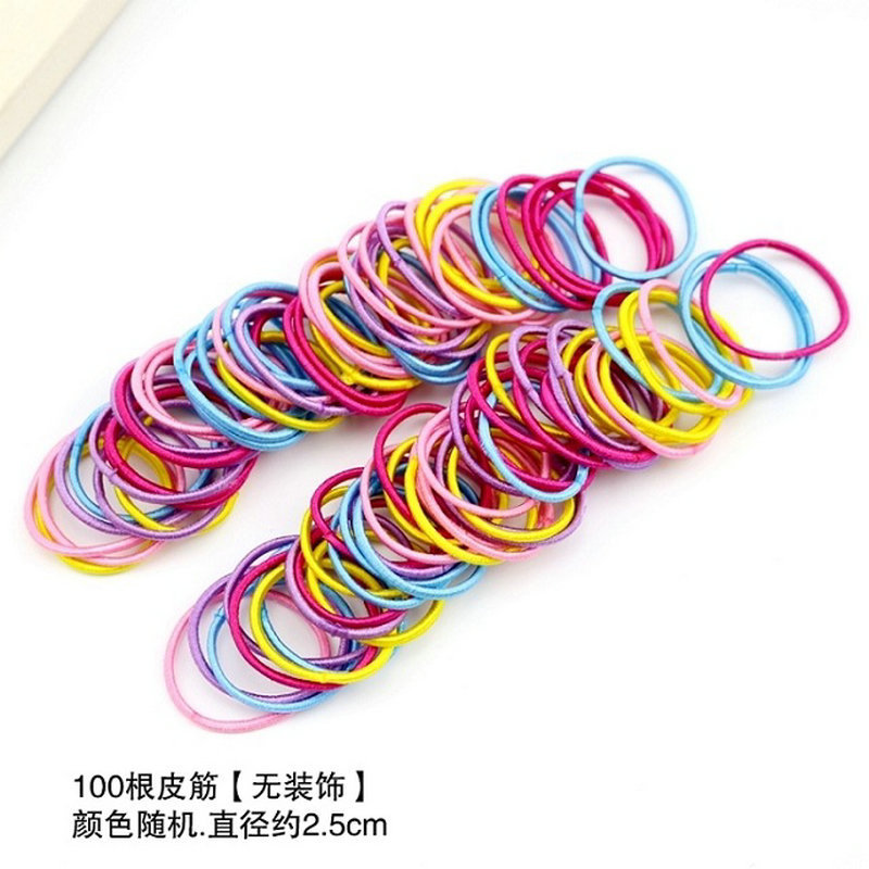 Children's rubber band 100 pieces Korean version of the   headwear   2019 bag children tied hair ring rope