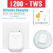 Original Pop-up i200 TWS Wireless Bluetooth Headphones Charging 5.0 Earphones PK i500 i9000 i30 i100