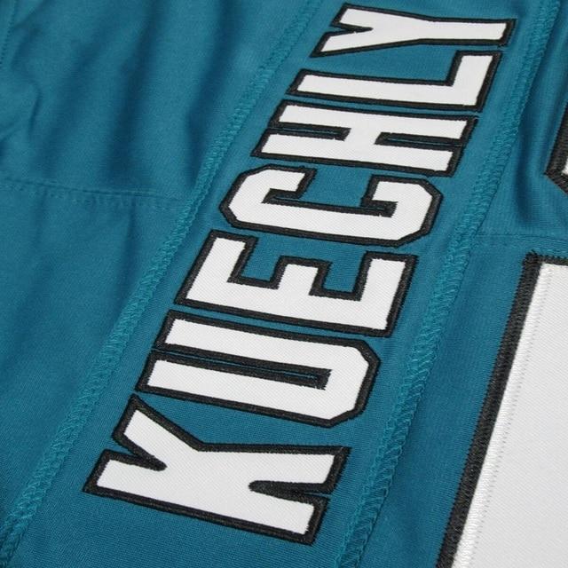 Jeu bleu football américain caroline maillot Christian Mccaffrey Cam Newton luke Kuechly Teddy Bridgewater Greg Olsen maillots