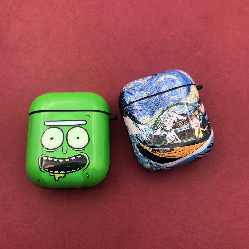 3D Mad Scientist Rick And Morty Headphone Cases For Apple Airpods 1/2 Cartoon Headphone Protection Cover Accessories Hot