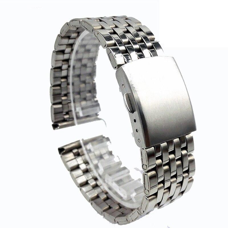 Ремешок из нержавеющей стали для мужских и женских часов, застежка t, скорость Master, браслет для мужчин и женщин 18 мм 20 мм 22 мм