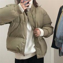 Женская куртка 2020 осень зима однотонная простая Классическая