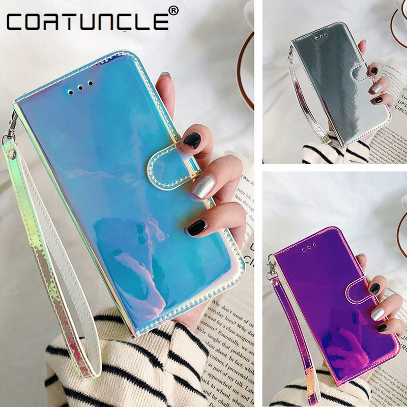 3D Mirror Leather Case On Sfor Coque LG K50 Case Magnetic Stand Flip Wallet Phone Case For Fundas LG Q60 LGK50 K 50 Q 60 Cover F
