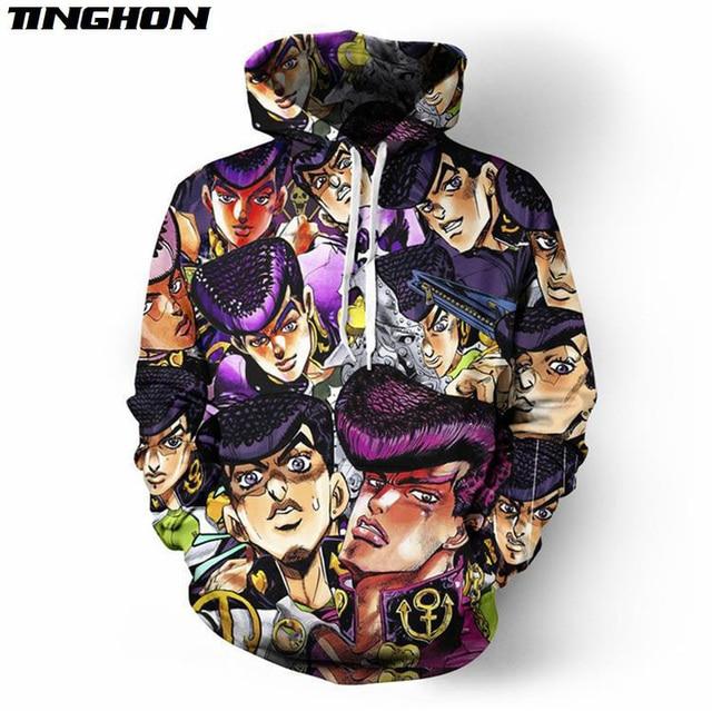 Anime JoJo's Bizarre Adventure 3D Full Printed Hoodie/Sweatshirt/Jacket/Men Women Hiphop Casual Plus Size XS 6XL 7XL 05 3