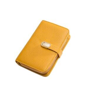 Image 4 - Hakiki deri tasarımcı cüzdan kadın cüzdan moda para çantası cep telefonu cep bayanlar lüks uzun çanta 6915