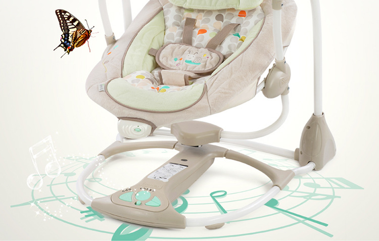 Hfa353de14e72487983fe6bb164804bc3X Newborn Gift Multi-function Music Electric Swing Chair Infant Baby Rocking Chair Comfort Cradle Folding Baby Rocker Swing 0-3Y