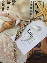 Popular gold leaf bracelet with rhinestone pendants proclaiming feminism party Bracelet eternal love bracelet charming rhinestone leaf cross bracelet