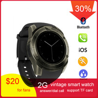 696 Newest Vintage Bluetooth Wrist Smart Watch KY003 For iPhone Android Phone Support SIM TF Card smartwatch Wristwatch PK Y1