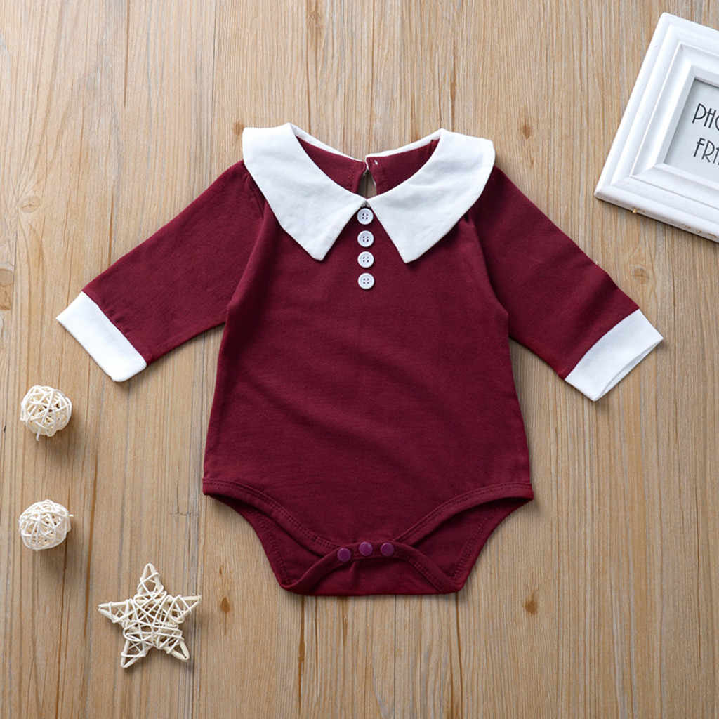 MUQGEW Romper Children Clothing 2019 New Infant Baby Kids Girls Doll Collar Ruffles Rompers Solid Casual Clothes baby kleren
