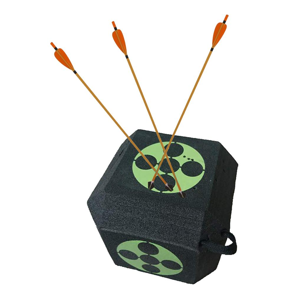 6 Side 3D Arrow Archery Target Cube Foam Target Large Dice With Polyfusion Technology Hunting Training Accessories