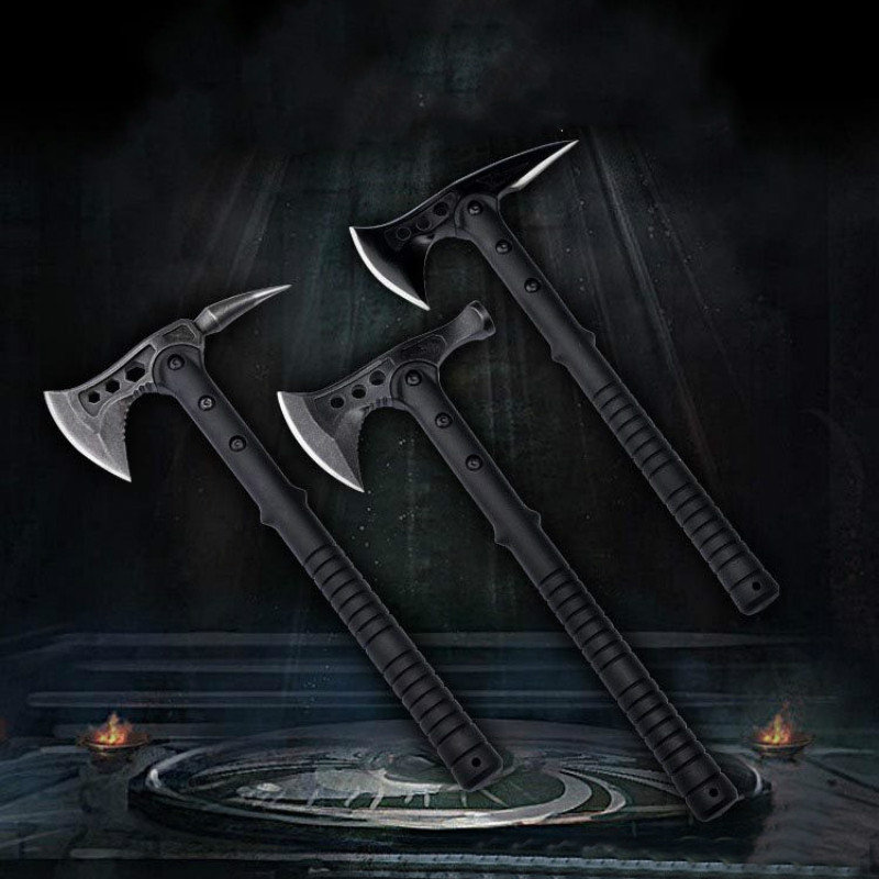 Stainless Steel Military Devil Mountain Axe 3 Style Outdoor Camping Fire Engineer Axes Multifunction With Nylon Sheath