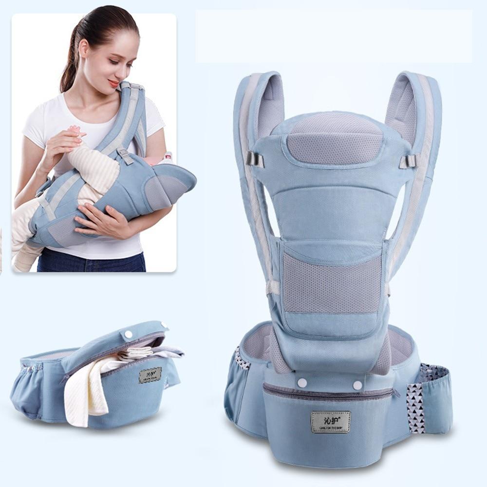 VICIVIYA 3 In 1 Baby Carrier Ergonomic Infant Kid Baby Hipseat Sling Kangaroo Baby Wrap Carrier Large Capacity Storage Bags