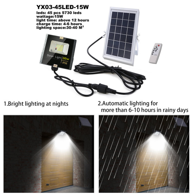 Led lawn Garden Solar Lamp Outdoor 100 LEDs Solar light Motion street Wall+lamps yard garage indoor home spot- lights Chandelier 4
