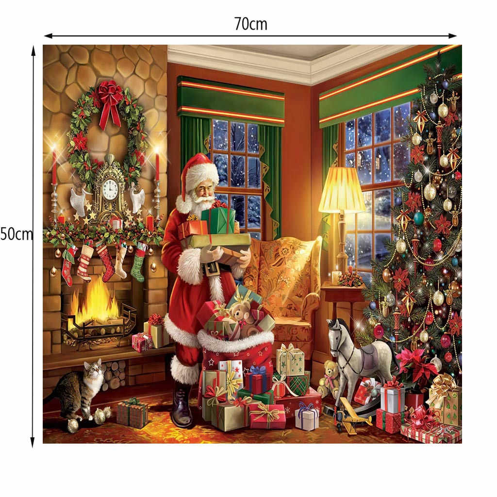 Puzzle Merry Christmas Large Jigsaw 1000 Piece Educational for Kids Adults Gift