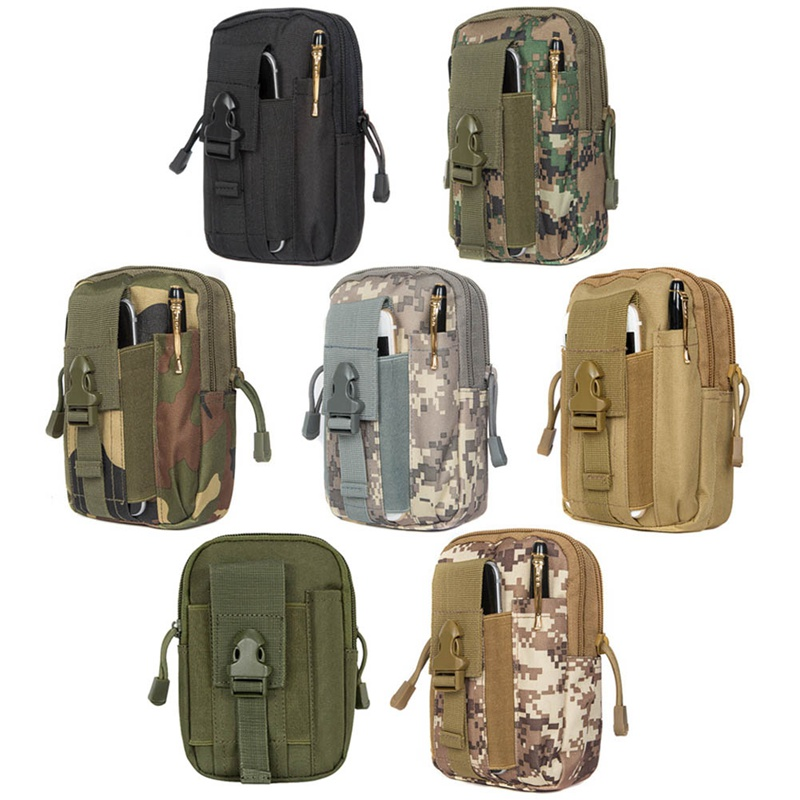 1PC Tactical EDC Utility Gadget Loops  Waist Bag Military Phone Pouch Belt Holster Outdoor Camping Climbing Bag