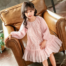 2019 Autumn Wedding Dress for Kids Girls Dress Tulle Kids Dresses for Girls with Sleeves Teenager Dress for Party 4 To 14 Years 5t to 14 years kids