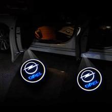 Projecteur de bienvenue à LED pour Opel Astra h g j Insignia Zafira b Corsa d Vectra c Antara Vivaro Opc, 2 pièces