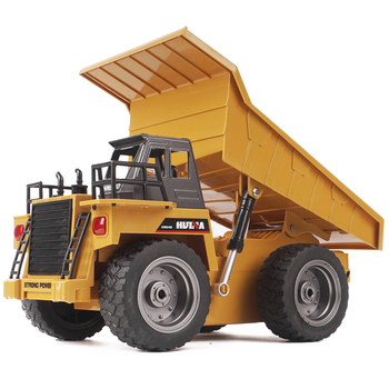 HUINA 1540 1/18 2.4G 6CH Alloy RC Dump Truck Construction Engineering Vehicle Kid RC Model Toy