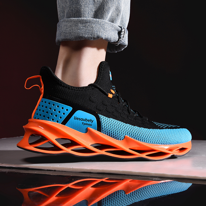 CREDRIZK 2020 New Arrivals Luxury Men Running Shoes Blade Sole Sneakers Jogging Sport Shoes Outdoor Athletic Gym Shoes Men Brand