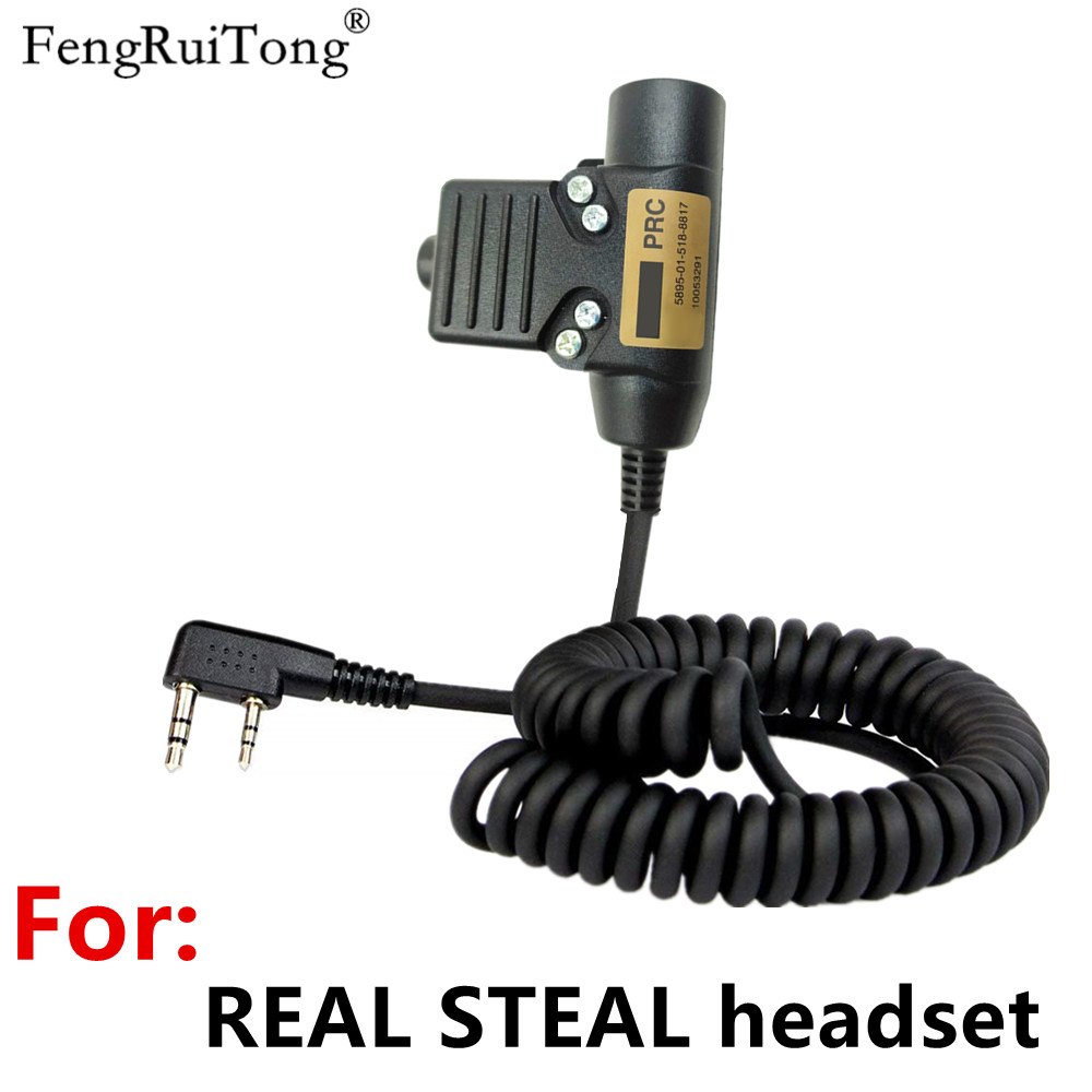 Tactics U94 PTT AMPLIFIED Version For REAL STEAL Headset ,for Baofeng Kenwood Puxing Woxun Nexus U94 PTT