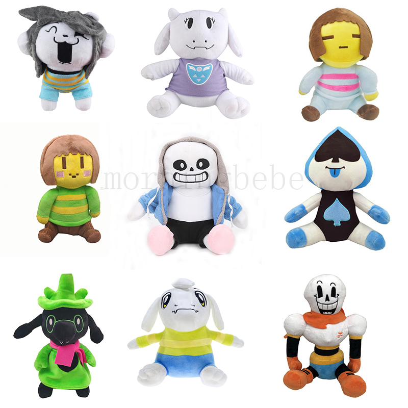 Undertale Plush Toy Doll 23-28cm Papyrus Frisk Chara Sans Peluches Stuffed Toys For Children Kids Birthday Gifts 9 Styles