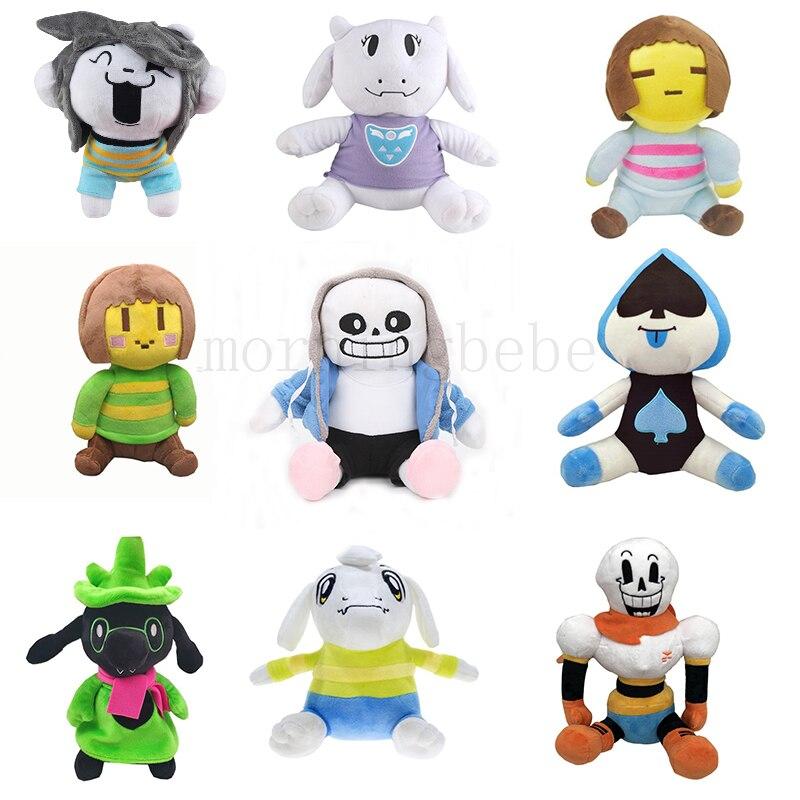 Undertale peluche jouet poupée 23-28cm Papyrus Frisk Chara Sans Peluches jouets en peluche pour enfants enfants cadeaux d'anniversaire 9 Styles