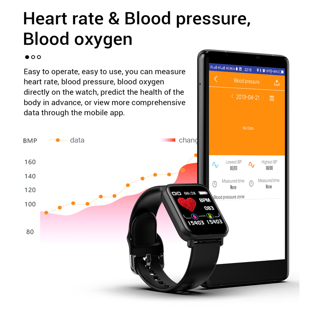 SENBONO Women Men Smart Watch For Android Watch IP67 Waterproof Push Message ChronograpHeart Rate Blood Pressure Smartwatch